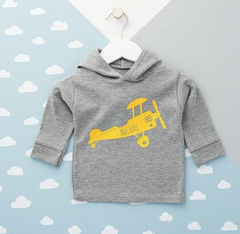 Airplane Personalised Baby Hoodie