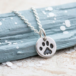 Paw Print Silver Necklace - necklaces & pendants