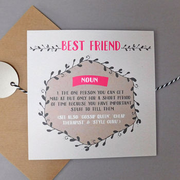 Funny Style Guru Best Friend Card