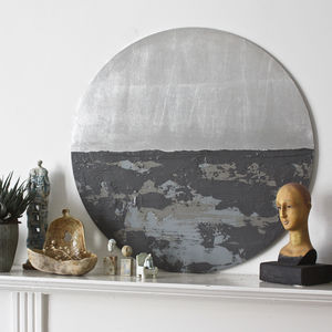 Bespoke Circular Abstract 'Mononchrome' - cosy home updates