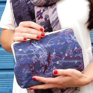Iris Silk Clutch Bag - womens