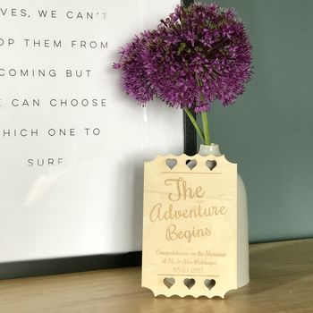 Personalised The Adventure Begins Wedding Card