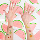 Tropical Fruit Temporary Tattoos