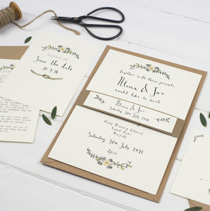 Bespoke Alicia Postcard Wedding Invitation - invitations