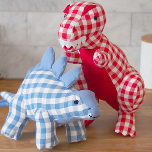 Large Gingham Dinosaur Toy