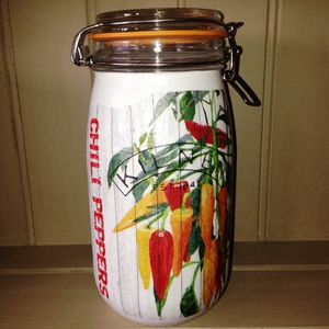 Handpainted Kilner Storage Jar Chilli Design