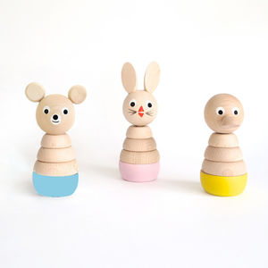 Set Of Three Wooden Stacking Toys - shop by recipient