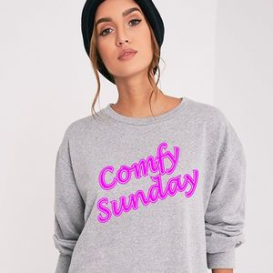 Comfy Sunday Ladies Oversized Sweatshirt