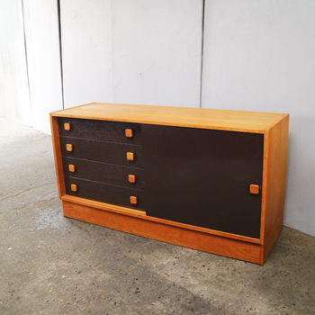 1960's Danish Credenza/Sideboard By Domino Mobler