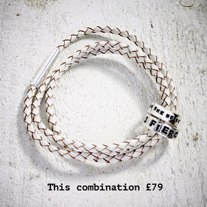 'All About You' Build Your Own Leather Wrap Bracelet