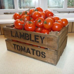 Personalised Vintage Style Tomato Crate