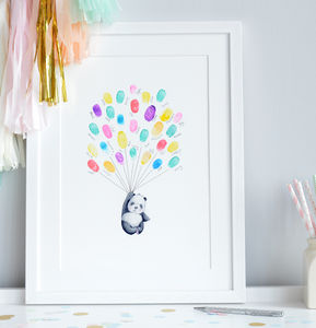 Personalised Keepsake Fingerprint Art - posters & prints for children