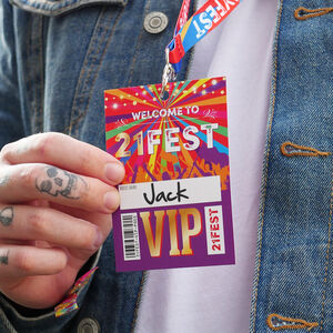 21 Fest 21st Birthday Party Festival Vip Lanyards