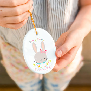 Personalised Easter Hanging Decoration 'Sweet flo'