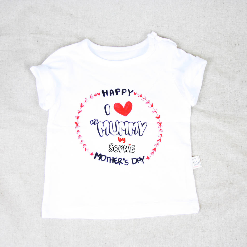 617f698d personalised mothers day t shirt / t shirt set by chewingum london ...