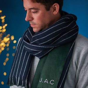 Personalised Men's Stripe Scarf - personalised gifts