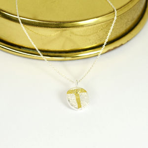 Personalised Delicate Silver Necklace With Gold