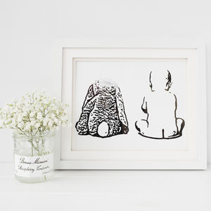 Personalised Baby Or Child Foil Photograph Print - children's room