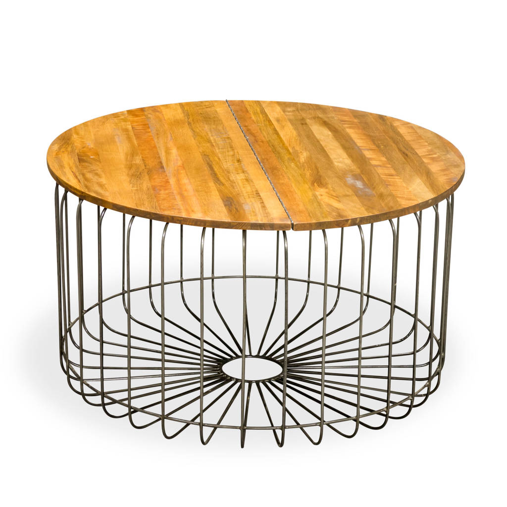 Birdcage Round Storage Coffee Table By The Orchard Furniture