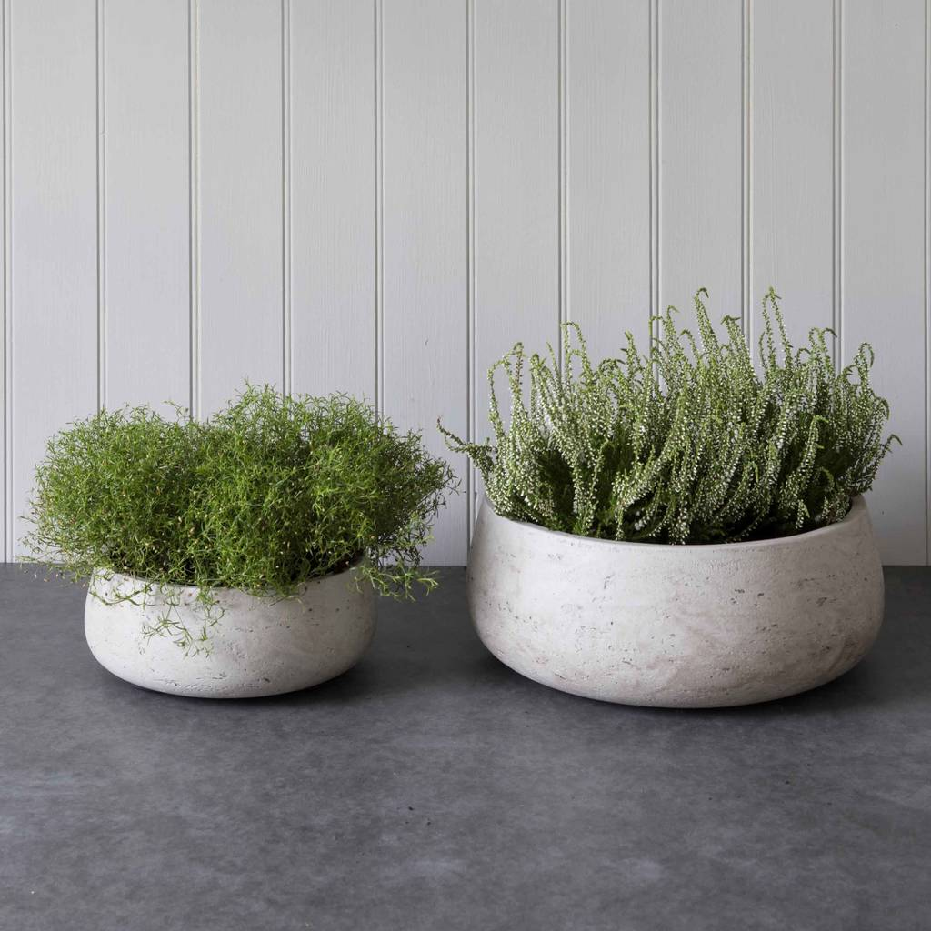 Stone Cement Planters By Idyll Home Notonthehighstreet Com