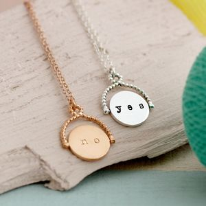 Spinner Decisions Necklace - gifts for her sale