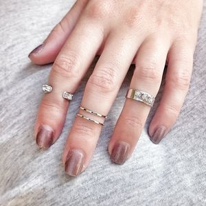Mini Crystal Stacking Ring Set Of Four