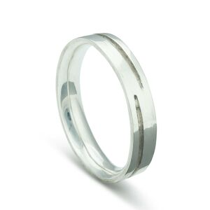 Curved Channel Silver Ring