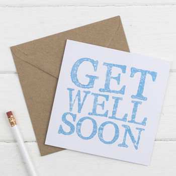 Get Well Soon Card Letter Stamped