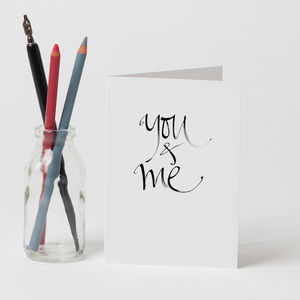 Personalised 'You And Me' Card