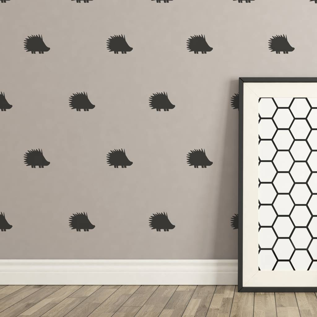 Contemporary Mini Hedgehog Wall Stickers