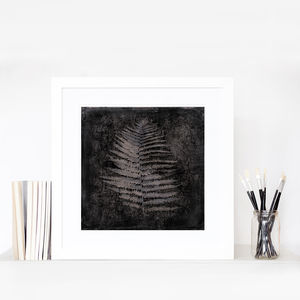 Fern Charcoal Home Fine Art Print