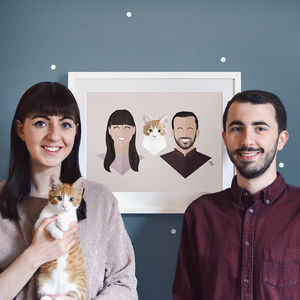 Personalised Family Portrait Print - bespoke prints we love