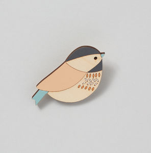 Coaltit Bird Brooch - pins & brooches