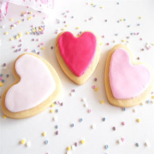 Heart Shape Iced Shortbread Biscuits - biscuits and cookies