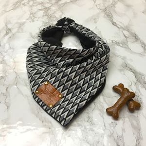 Hotsy Totsy Monochrome Luxury Dog Bandana Neckerchief - clothes & accessories