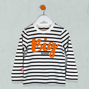 Big Sister Striped T Shirt