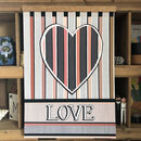 Personalised Love Heart Stripe Print