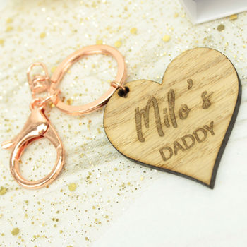 Personalised 'My Daddy' Heart Keyring