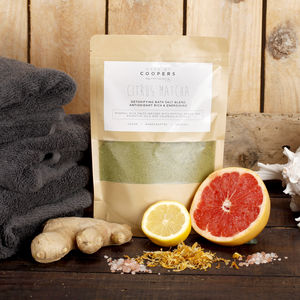 Natural Citrus Matcha Detox Bath Salt Blend - organic beauty