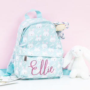 Kids Easter Bunny Personalised Glitter Rucksack - bags, purses & wallets
