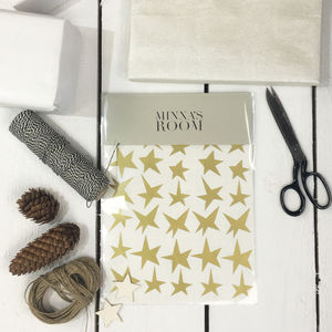 Golden Stars Wall And Gift Stickers