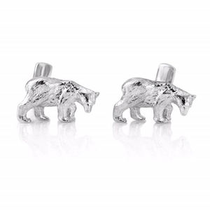 Silver Bear Cufflinks - jewellery gifts for children