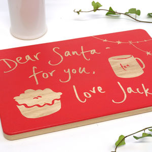 Personalised Christmas Eve Santa Plate Tray