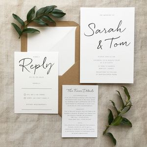 Minimalist Wedding Invitation - invitations