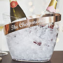 Personalised Copper Banded Champagne Bucket