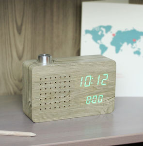Ash Radio Click Clock - living room