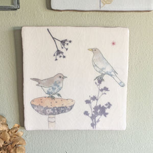 Blackbirds Ceramic Tile Wall Art - animals & wildlife