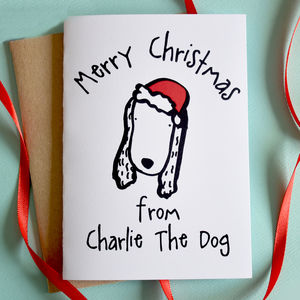 Merry Christmas From The Dog Card - cards & wrap