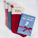 Personalised Christmas Stocking With Christmas Book