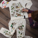Jungle 'Colour In' Pyjamas With Fabric Pens